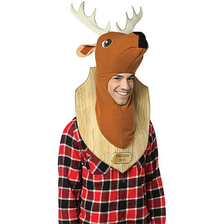 Trophy Head Deer Adult Halloween Costume - Falling Head Costume