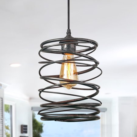 LNC 1-Light Contemporary Ceiling Light Spiral Pendant Lighting