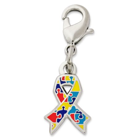 - PinMart's Autism Awareness Ribbon Puzzle Piece Enamel Charm Jewelry