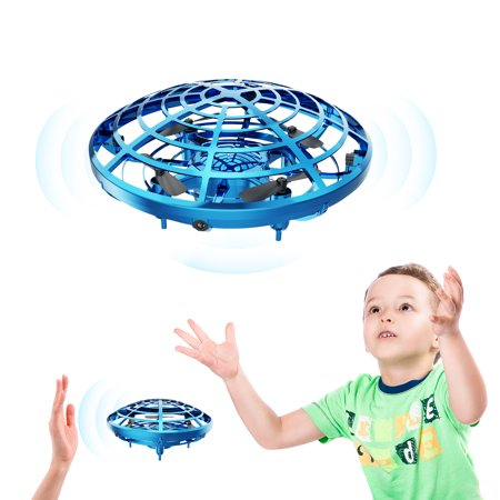 Toys Hand Operated Mini Drone for kids adults Flying Ball Hand Controlled Quadcopter Play Flying Gifts for Boys Girls Motion Sensor Helicopter Children play Outdoor and Indoor (Blue Thunder Rc Helicopter)