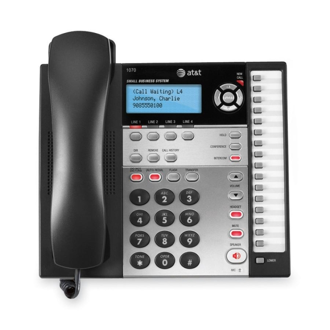 AT&T 1070 4-Line Expandable Corded Small Business Telephone with Caller ID