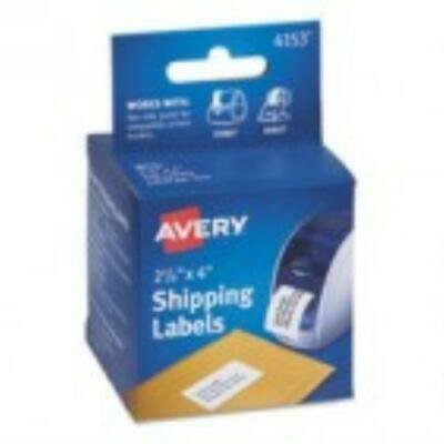 Avery Thermal Printer Labels, Shipping, 2 1/8 x 4, White, 140/Roll, 1 Roll/Box Avery Thermal Printer