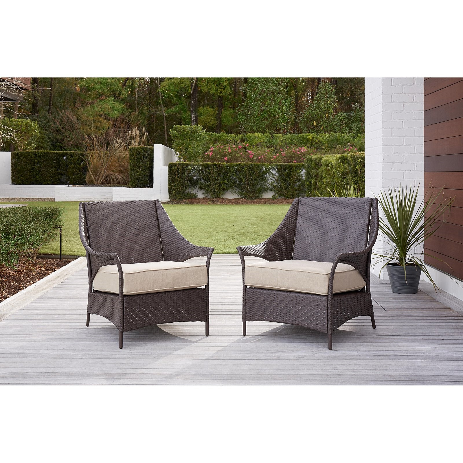 Cosco Lakewood Isle Outdoor Living Patio Lounge Chair - Set of 2