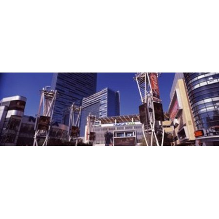 Skyscrapers in a city Nokia Plaza City of Los Angeles California USA Canvas Art - Panoramic Images (18 x 6) - Halloween Parties In Los Angeles California