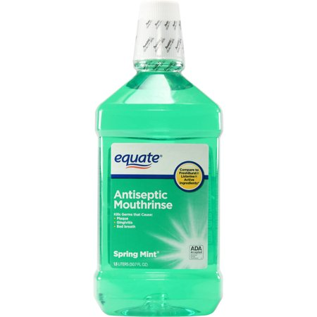 (2 pack) Equate Spring Mint Mouthwash 50.7 Oz (Pre Rinse Unit Spring)