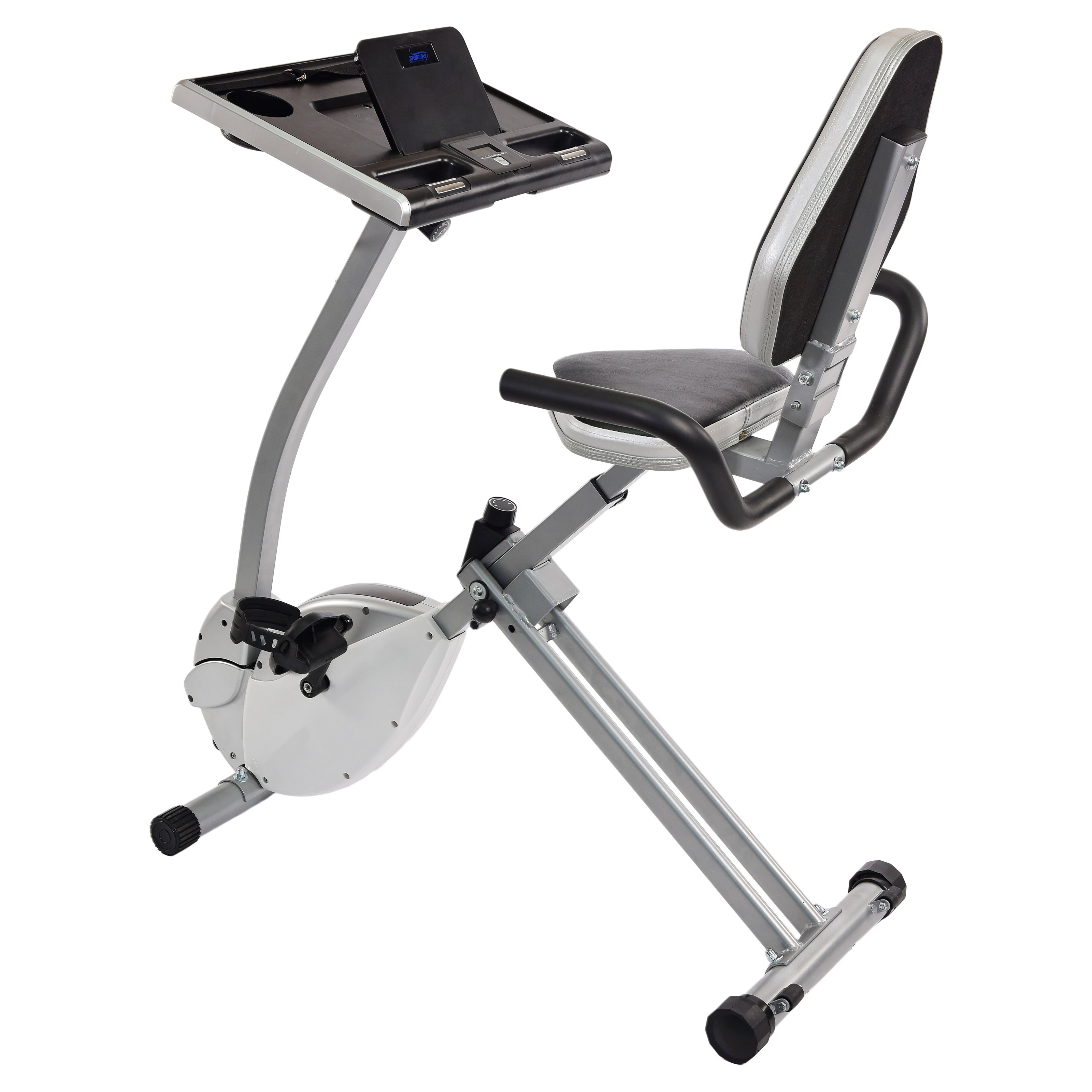 Stamina 2in1 Recumbent Exercise Bike Workstation and Standing