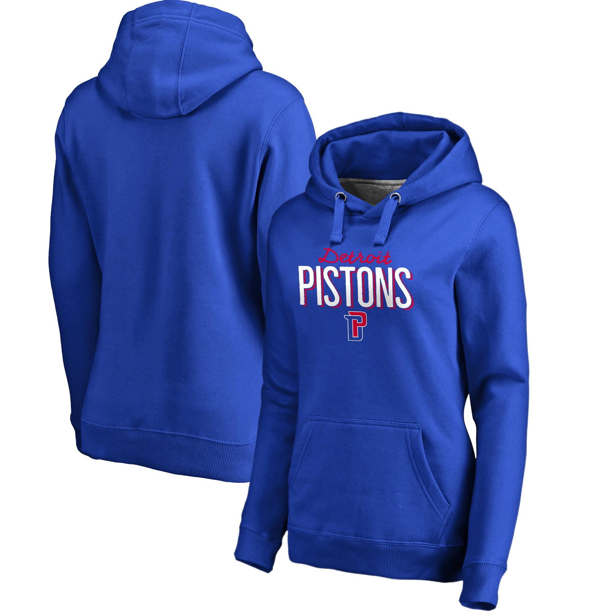 Detroit Pistons Women's Nostalgia Pullover Hoodie - Royal