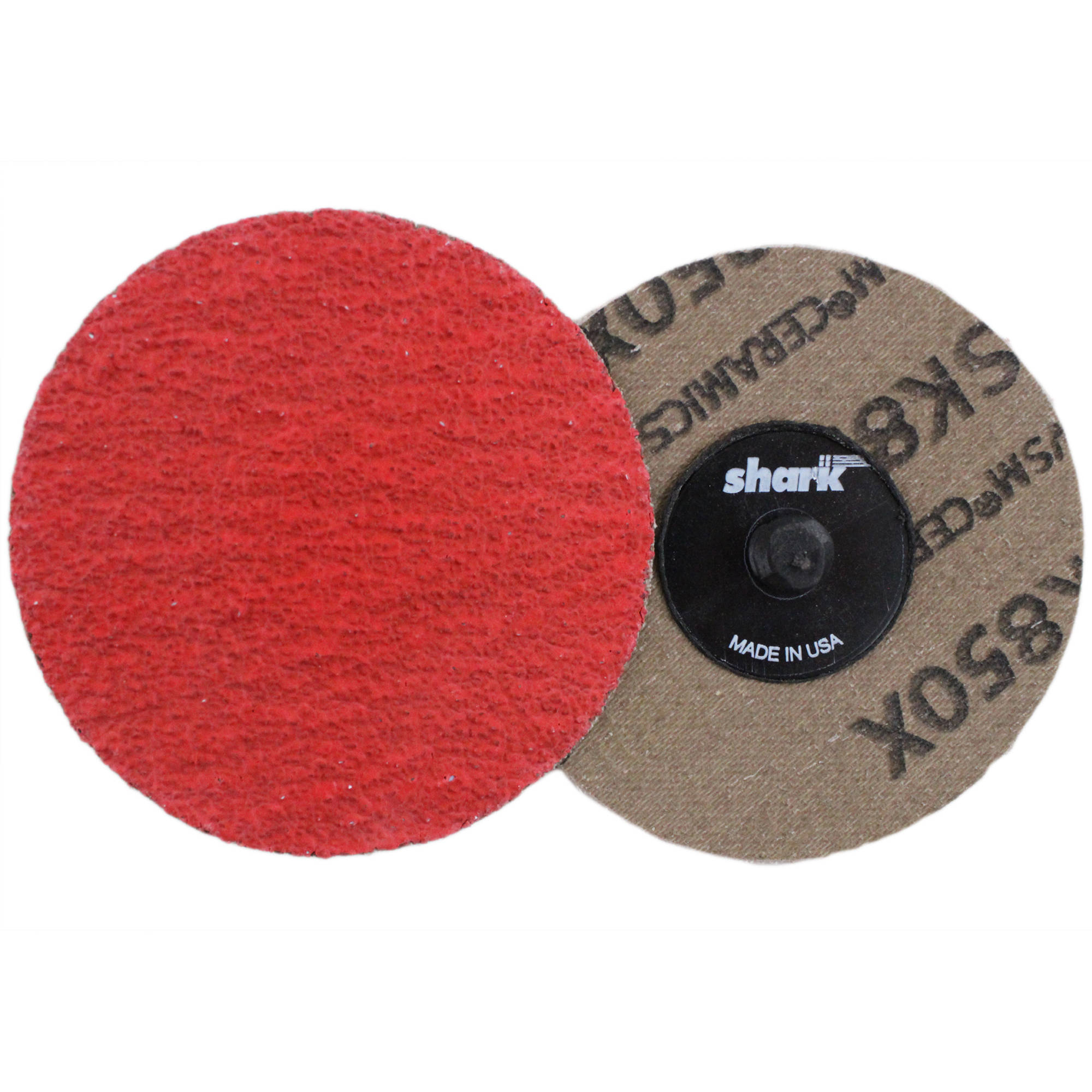"Shark Red Ceramic Grinding Discs, 3"", 25-Pack, 24 Grit"