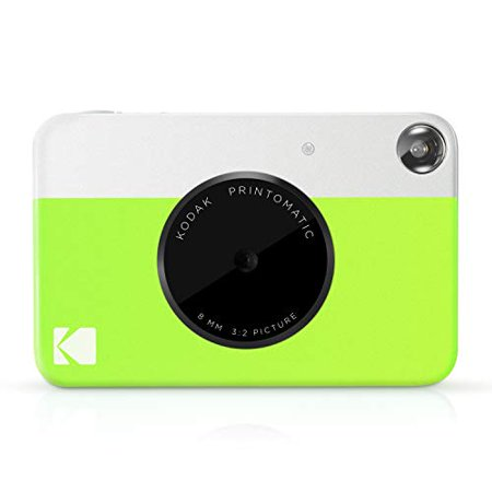Kodak PRINTOMATIC Digital Instant Print Camera (Neon Green), Full Color Prints On ZINK 2x3 Sticky-Backed Photo Paper - Print Memories