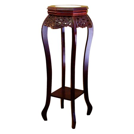 Ore International Cherry Flower Stand with Ceramic Top (Ceramic Stand)