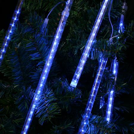 String Decoration (Finether 13.1 ft 8 Tube 144 LED Meteor Shower Rain Snowfall Plug-In String Lights for Indoor Outdoor)