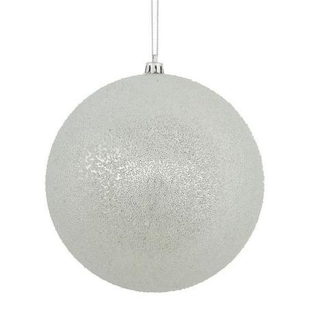 8 in. Silver Iced Ornament Ball - image 1 de 1