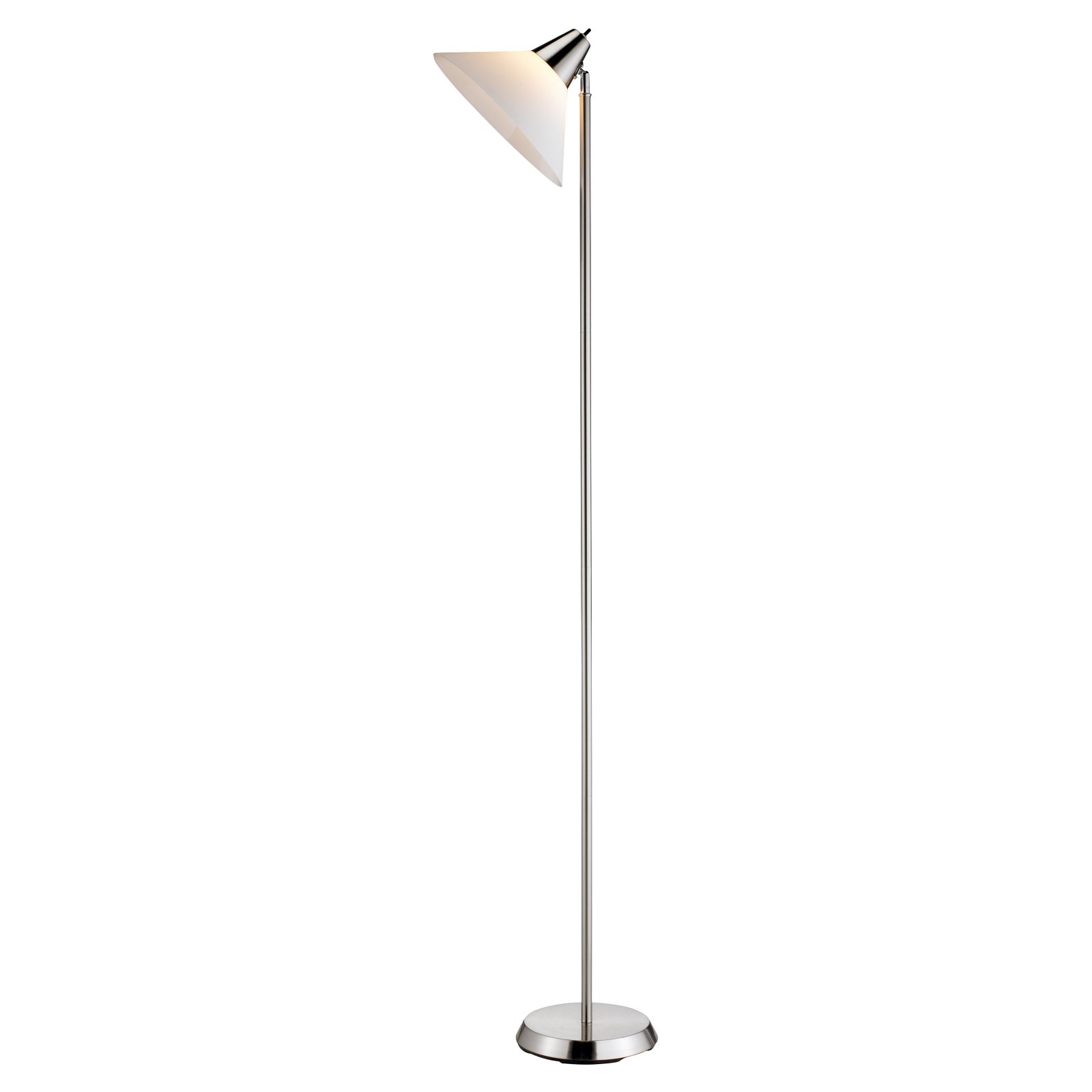 Adesso Swivel Floor Lamp, Satin Steel Finish by Generic