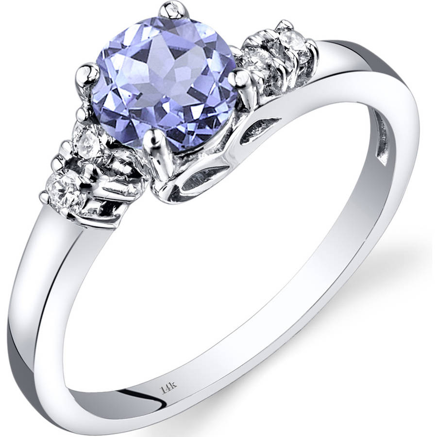 Oravo 0.75 Carat T.G.W. Tanzanite and Diamond Accent 14kt White Gold Ring by Oravo