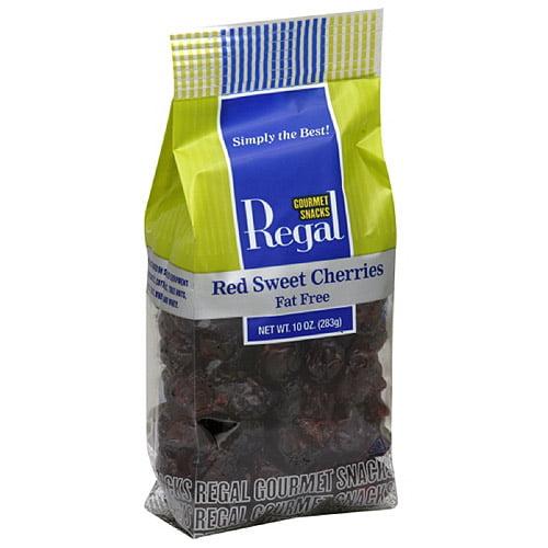 Regal Gourmet Snacks Sweet Red Cherries, 10 oz (Pack of 8)