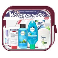Convenience Kits International, Women's Deluxe 10 PC Travel Kit Featuring: Herbal Essences Shampoo and Conditioner