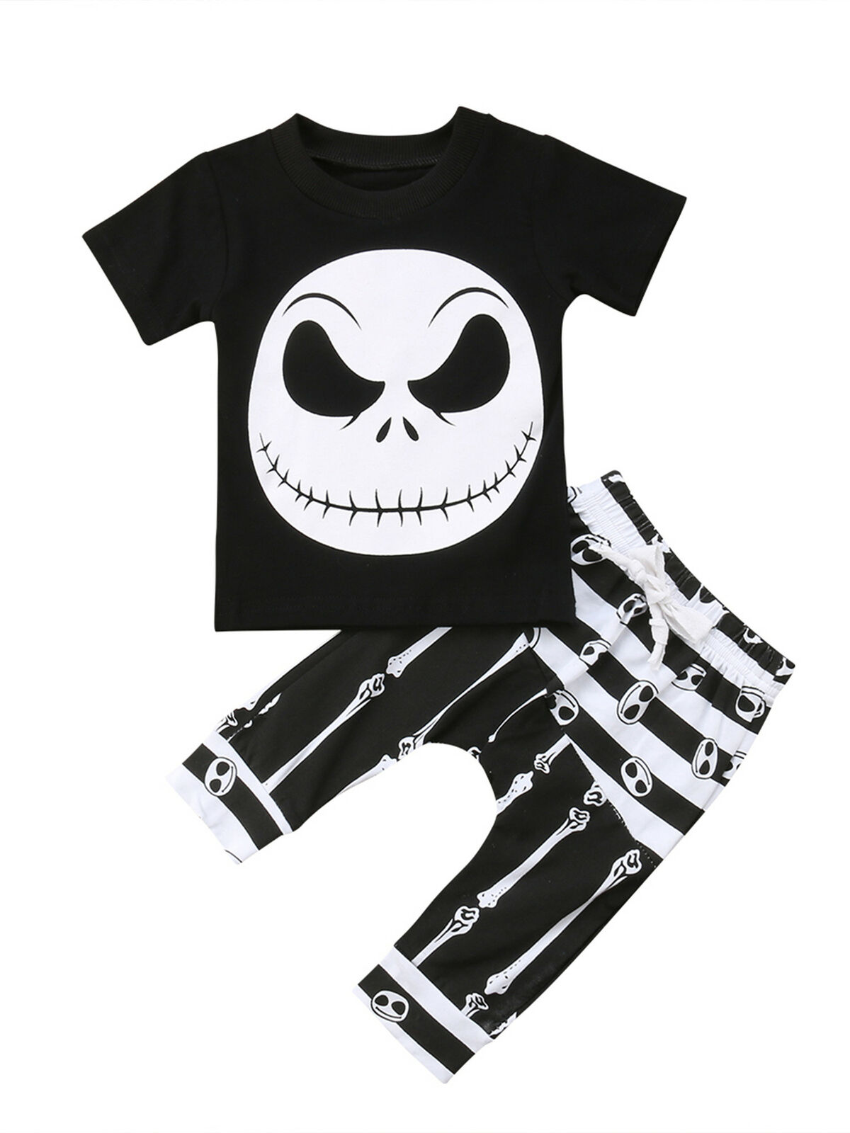hirigin Kids Baby Boys Halloween Outfits Eyes T-Shirt Ghost Striped Pants 2pcs Clothes