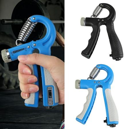 EEEKit Hand Grip Strengthener Adjustable Resistance with Built-in Counter 22-132 Lbs (10-60kg) - Hand Gripper Exerciser, Strengthen Grip, Hand Squeezer, Wrist Strengthener and Hand Workout - Blue (Best Way To Strengthen Your Wrists)