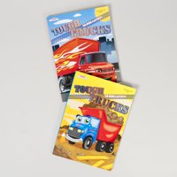 COLOR/ACTIVITY BOOK TOUGH TRUCK 80 PG IN PDQ 2 ASSORTED, Case Pack of 24