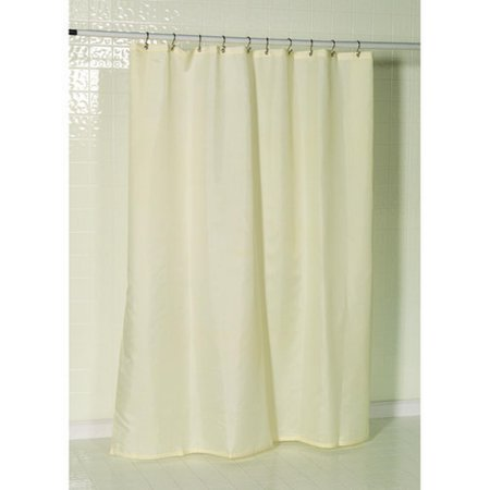 Nylon Fabric Shower Curtain Liner With Reinforced Mesh