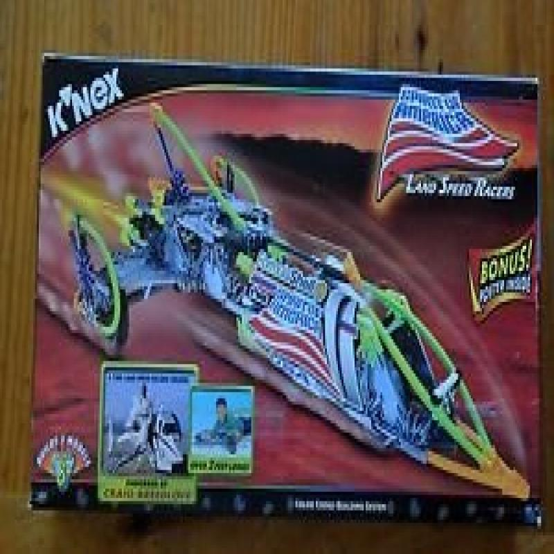 Knex Land Speed Racers -- Spirit of America -- (Builds 3 Models and Includes Bonus Poster) by