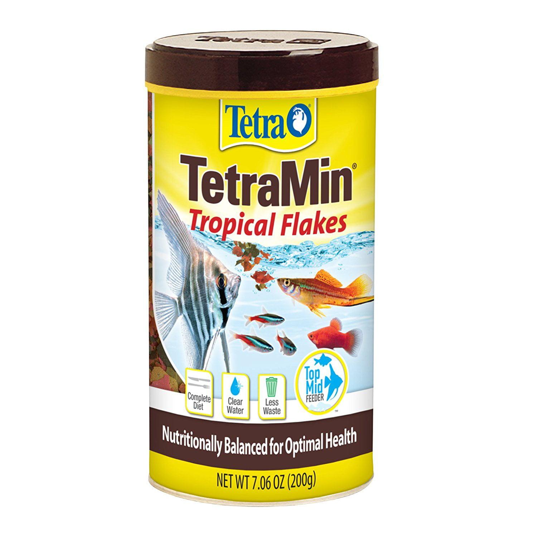 Tetra TetraMin Balanced Diet Tropical Fish Flakes, 7.0-oz.
