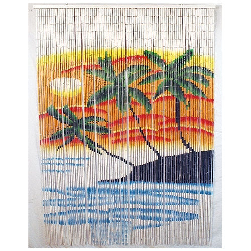 Bamboo54 Triple Palm Tree Single Curtain Panel