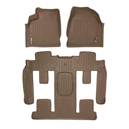 Maxliner 2009-2017 Chevrolet Traverse 2009-2017 Buick Enclave 2009-2016 GMC Acadia 2009-2010 Saturn Outlook Floor Mats Bucket Seat Complete Set Tan A1043/B1044
