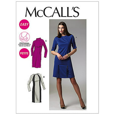 Petite Length - McCall's Pattern Misses' and Miss Petite Dresses in 2 Lengths, AX5 (4, 6, 8, 10, 12)