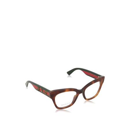 a7ffdc7891f Gucci Women's Eyeglasses GG0060O GG/0060/O 002 Havana/Green Optical ...