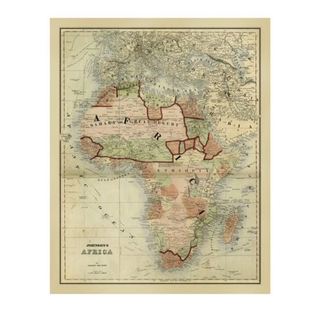 Alvin Archival Print Protector - Antique Map of Africa Print Wall Art By Alvin Johnson