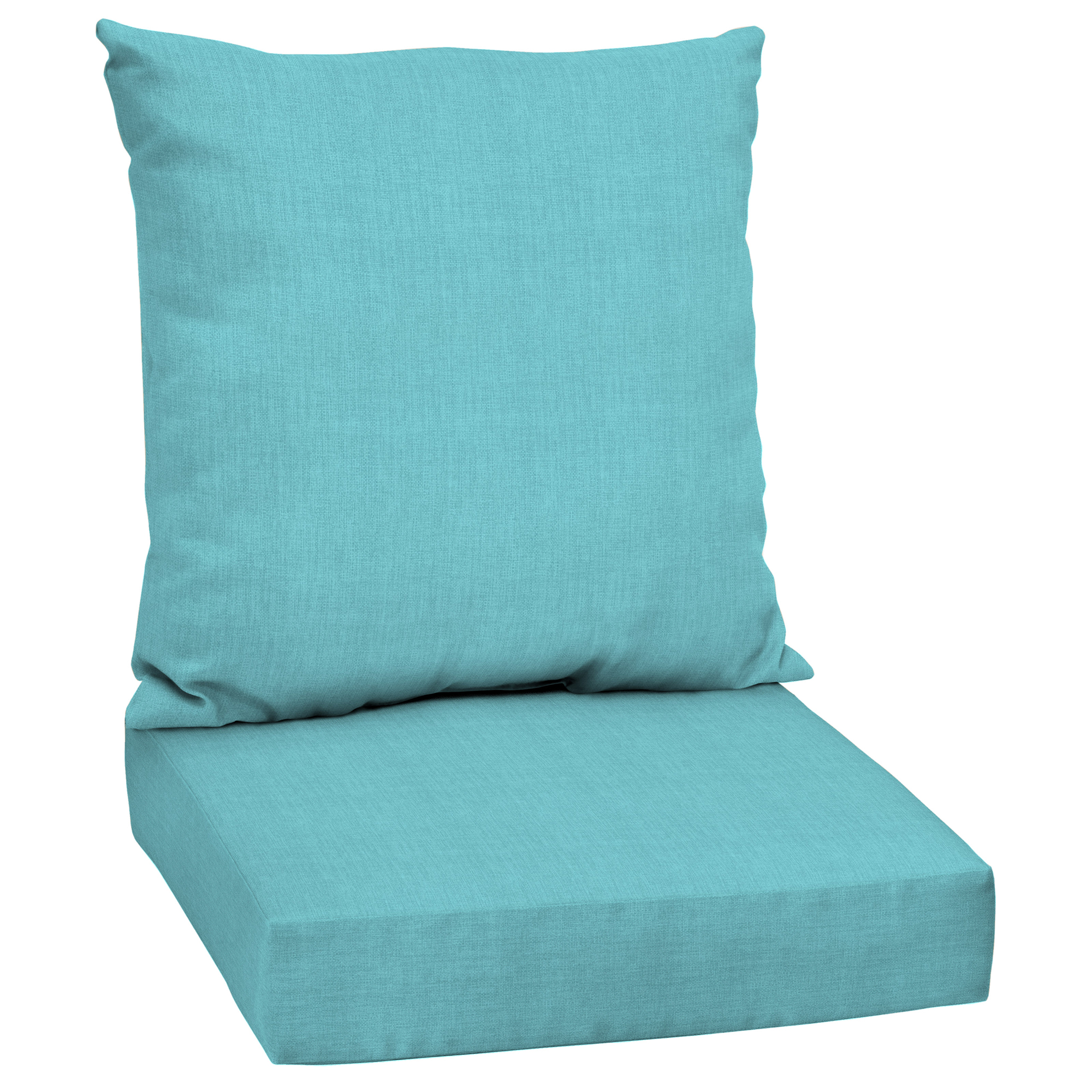 Delicieux Product Image Mainstays Solid Turquoise 48 X 24 In. Outdoor Deep Seating  Cushion Set
