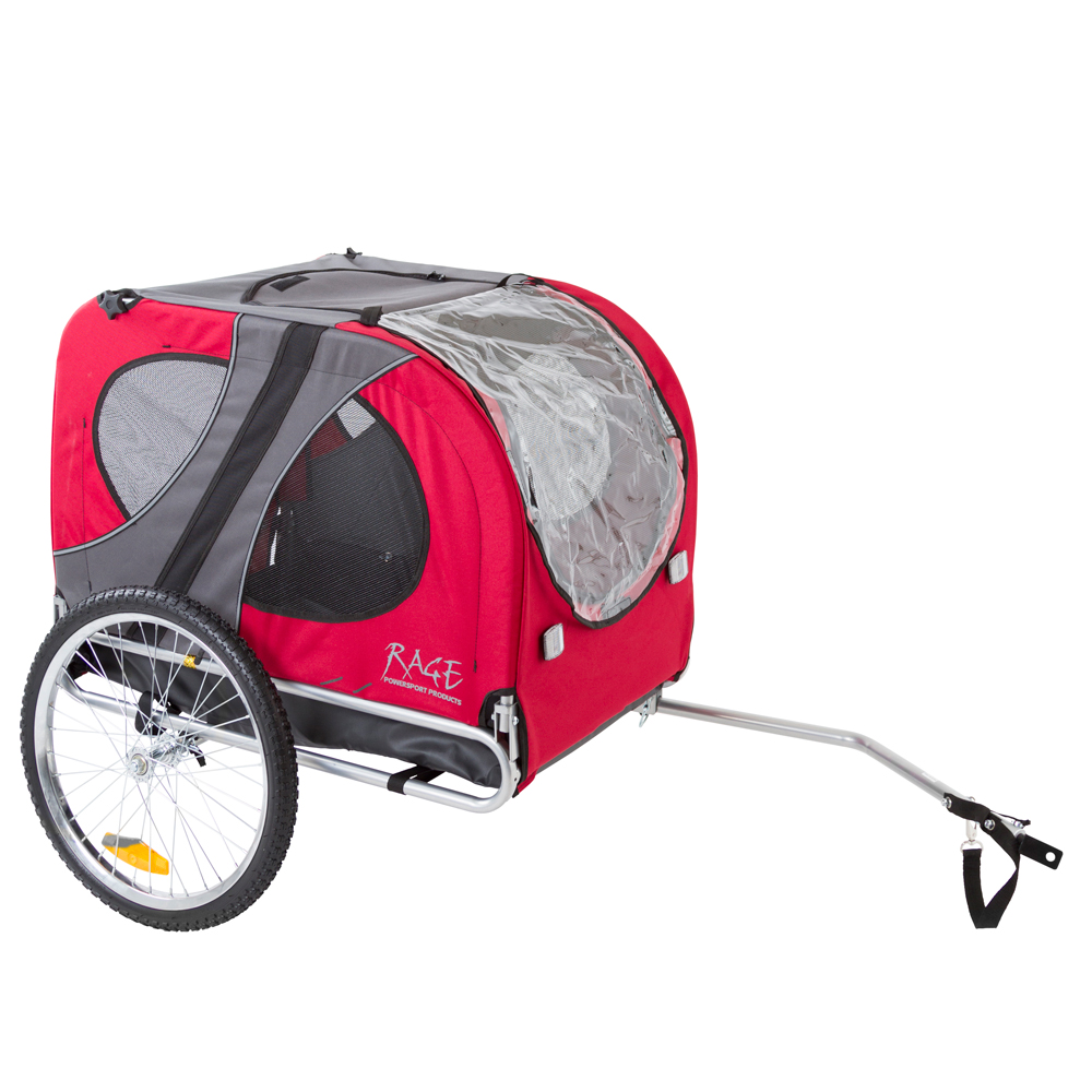 Red Pull-Behind Dog Bicycle Trailer Pet Carrier