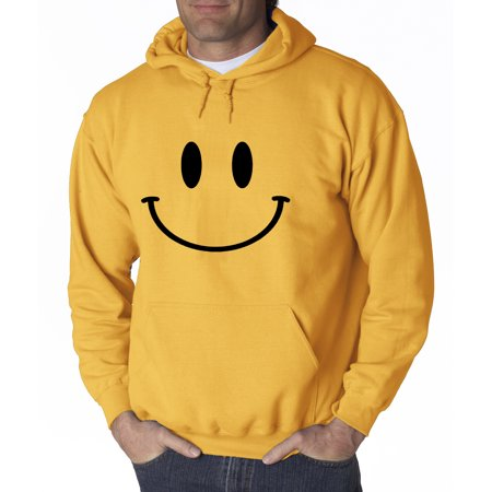 d2786c113a New Way 849 - Adult Hoodie Smiley Face Emoticon Emoji Happy Smile  Sweatshirt Large Gold - Walmart.com