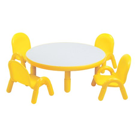 f6faded87302 Angeles Round Baseline Toddler Table and Chair Set in Canary Yellow -  Walmart.com