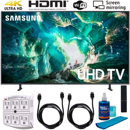 "Samsung UN49RU8000 49"" RU8000 LED Smart 4K UHD TV (2019) w/ Accessories Bundle Includes, 2x 6ft HDMI Cable, Universal Screen Cleaner (Large Bottle) and SurgePro 6-Outlet Surge Adapter w/ Night Light"
