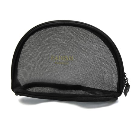 Mesh Pouch - Portable Travel Toiletry Pouch Nylon Mesh Cosmetic Makeup Organizer Bag with Zipper