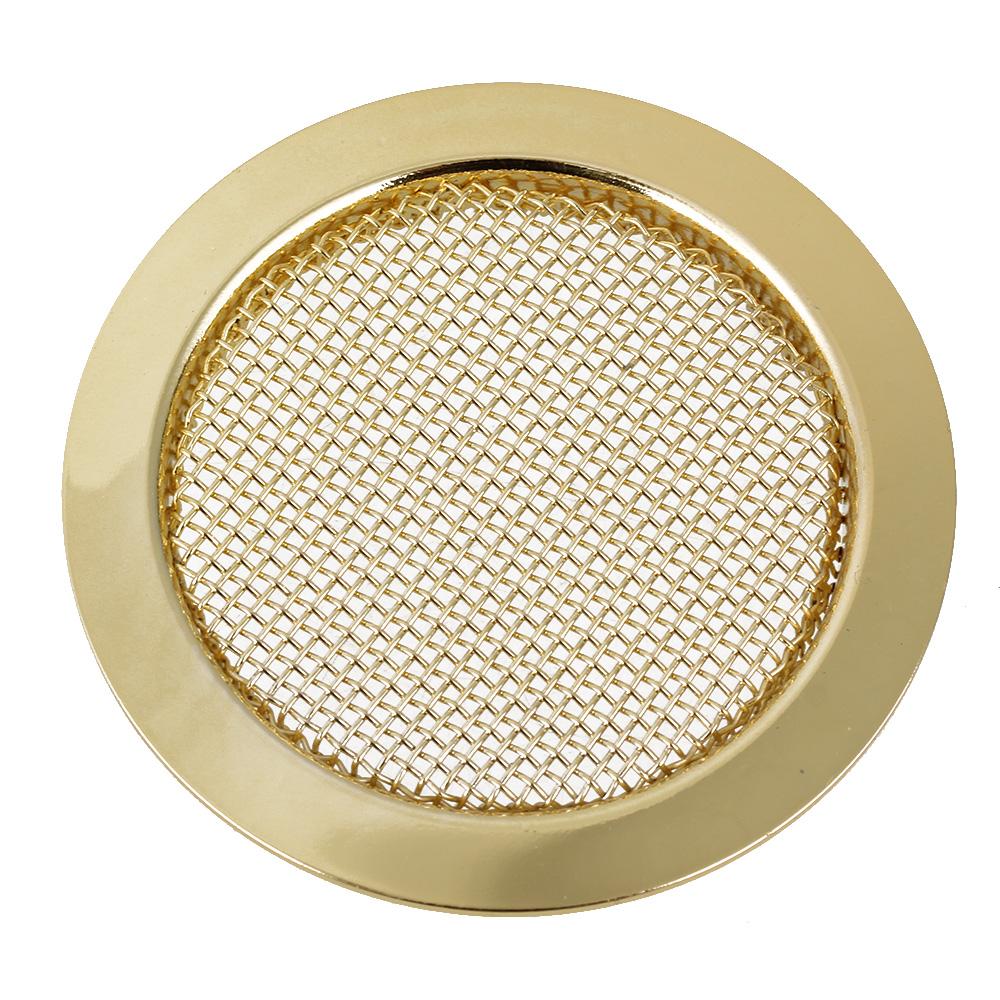 BQLZR 6cm Diameter Gold Alloy Dobro Guitar Resonator Soundhole Cover for Guitar Maker or... by