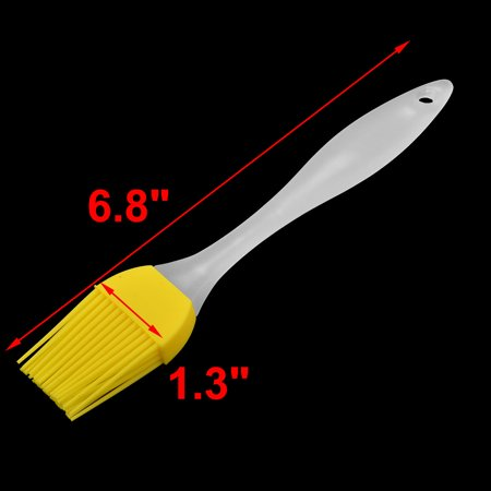 Home Plastic Handle Basting Grilling Tool Oil Condiment Pastry Brush Yellow 2pcs - image 1 of 4