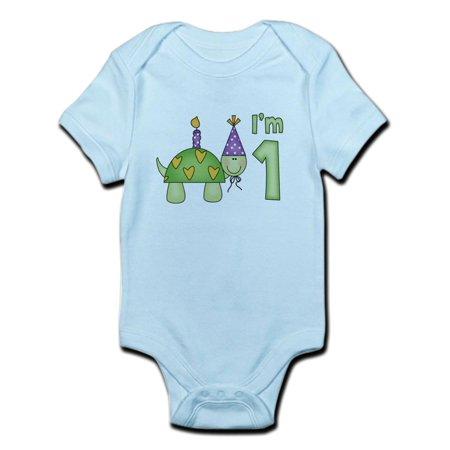 CafePress - Little Turtle First Birthday Infant Bodysuit - Baby Light Bodysuit