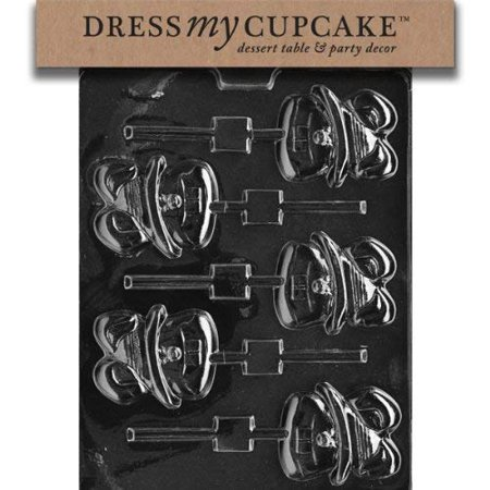 Dress My Cupcake DMCE032 Chocolate Candy Mold, Big Tooth Bunny Lollipop, Easter](Tooth Candy)