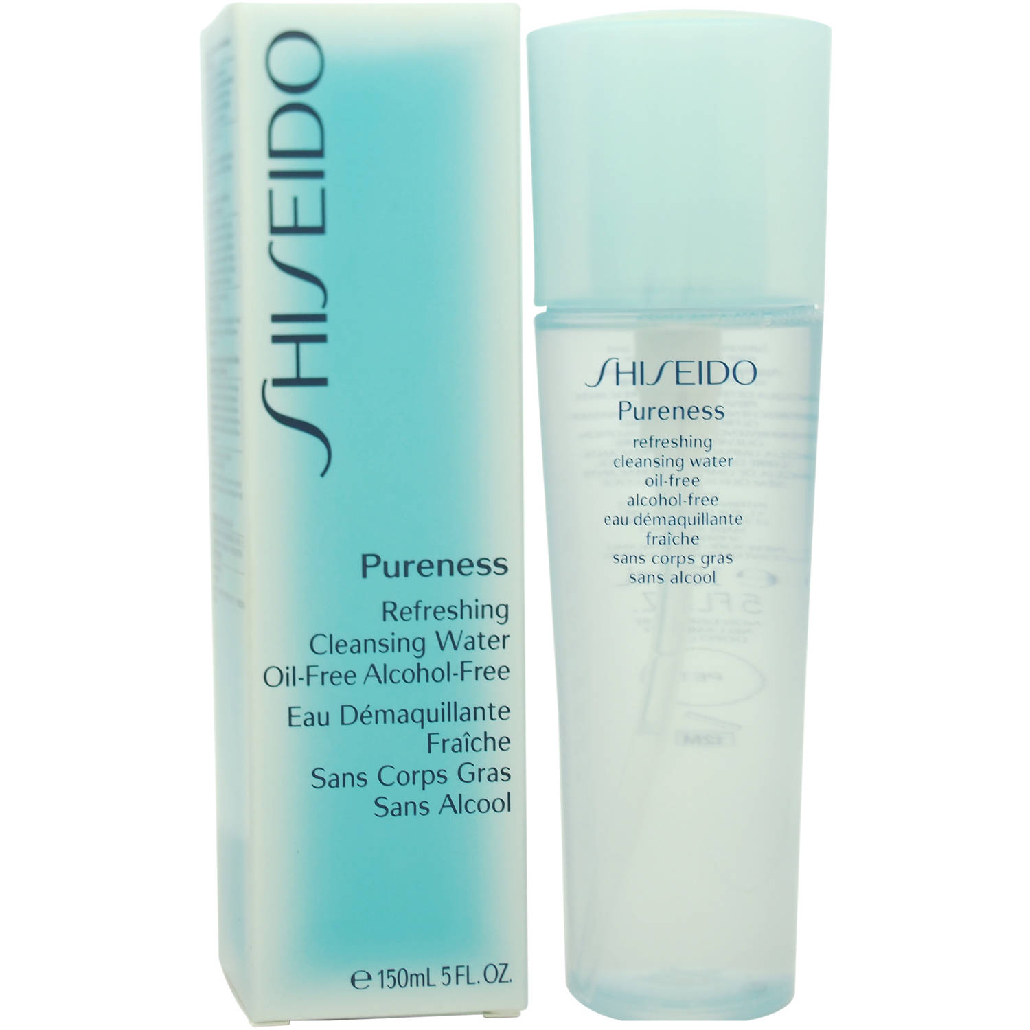 Pureness Refreshing Cleansing Water Oil-Free by Shiseido for Unisex Cleansing Water, 5 oz