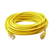 EC511835 - EXTENSION CORD 3/12 100FT YELLOW SJTW ONE LIGHTED END 15A 125V