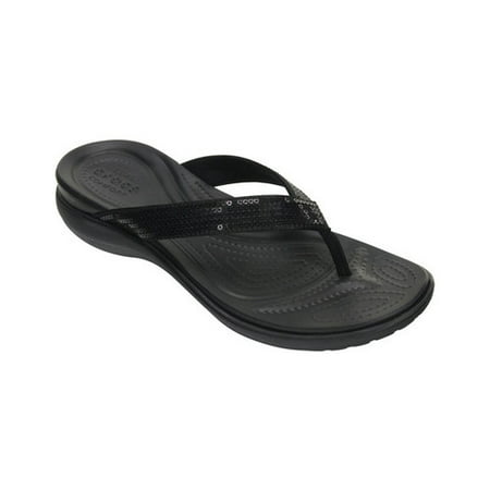 Crocs Women's Capri V Sequin Flip Sandals