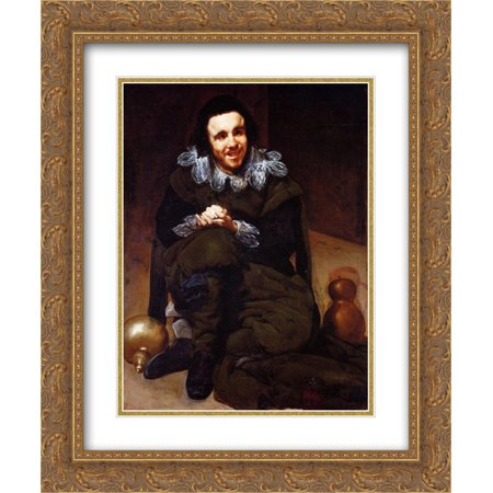 Diego Velazquez 2x Matted 20x24 Gold Ornate Framed Art Print 'The Buffoon Calabazas' (Calabaza Halloween Decoracion)