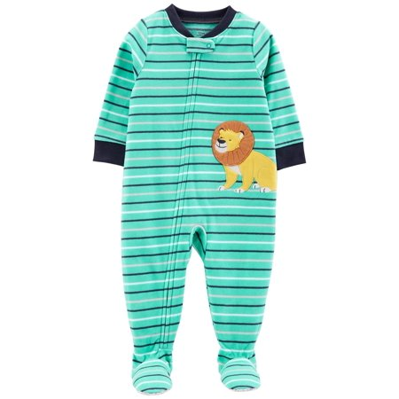 Carter's Baby Boys' 1-Piece Lion Fleece PJs (Lions Toddler Fleece)