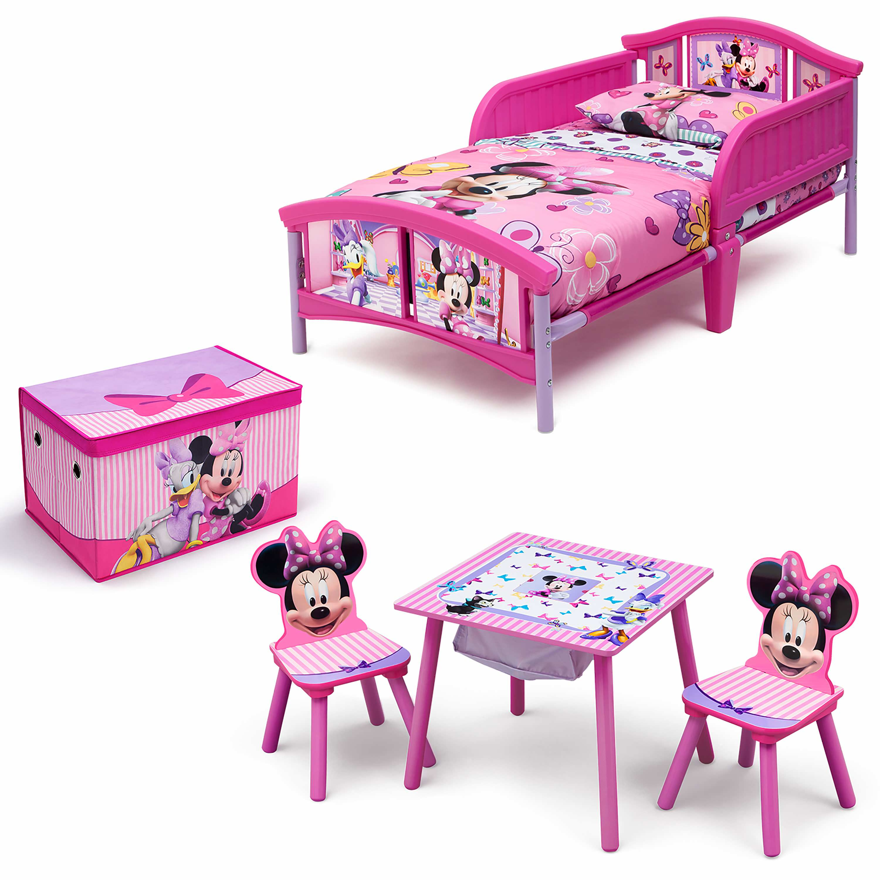 Disney Minnie Mouse Room In A Box With BONUS Table U0026 Chairs Set