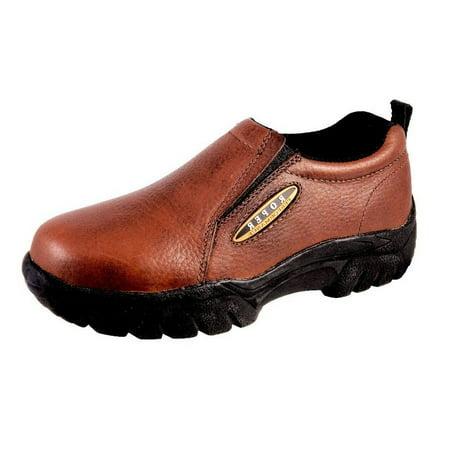 Leather Mens Roper (Roper Western Shoes Mens Leather Sport Slip Brown 09-020-0601-0206)