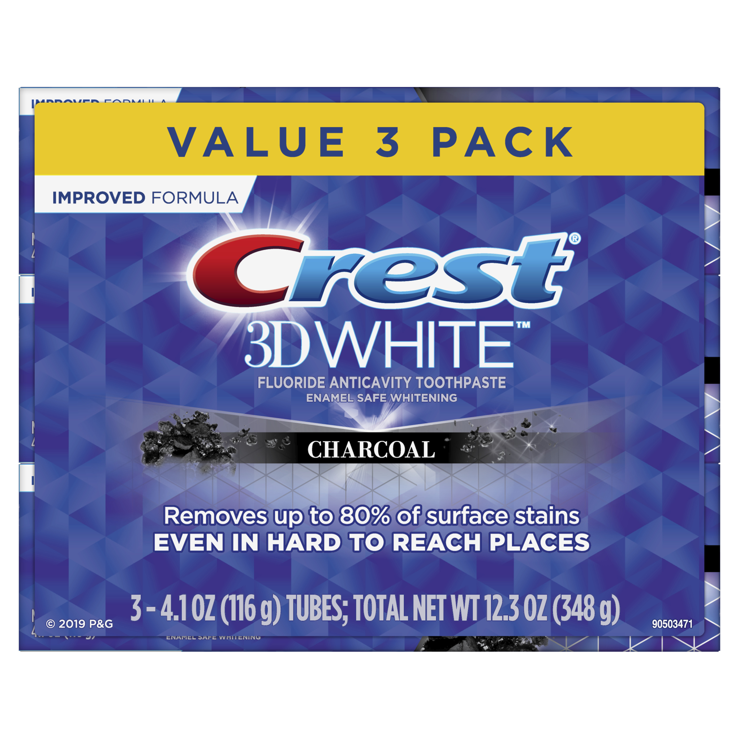 Crest 3D White, Charcoal Whitening Toothpaste, 4.1 Oz