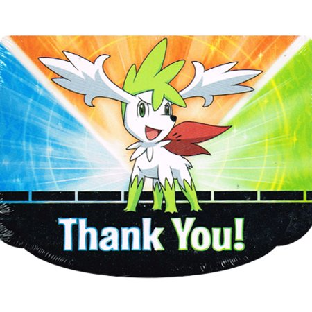 Pokemon 'Diamond and Pearl' Thank You Notes w/ Env. (8ct) - Pokemon Thank You